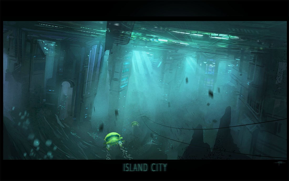 EOW#65 city on the underside of a floating island