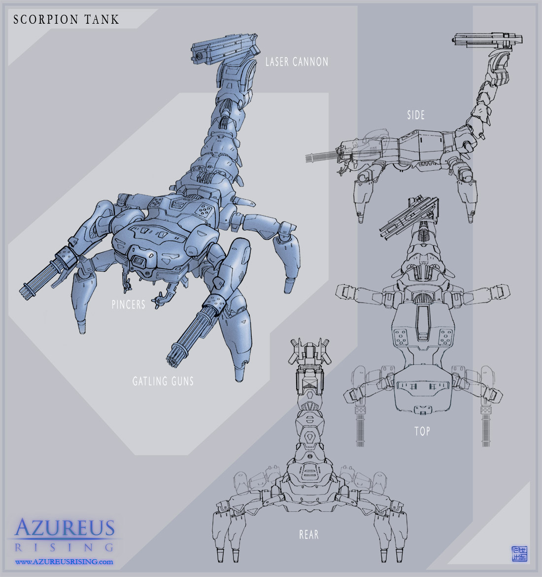 Azureus Rising - Art & Proof of Concept shortfilm