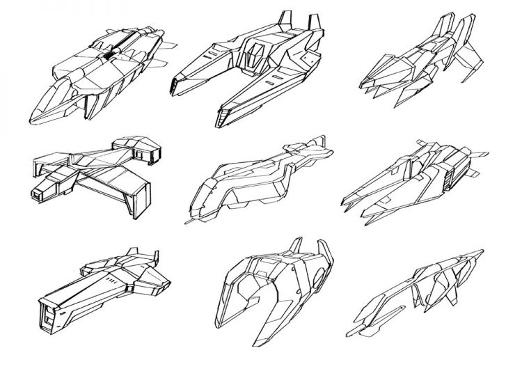 Spaceship Drawing Tutorial On How To Draw A